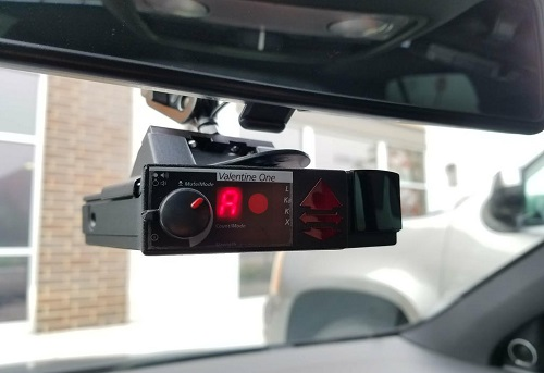 Valentine One Radar Detector In Car